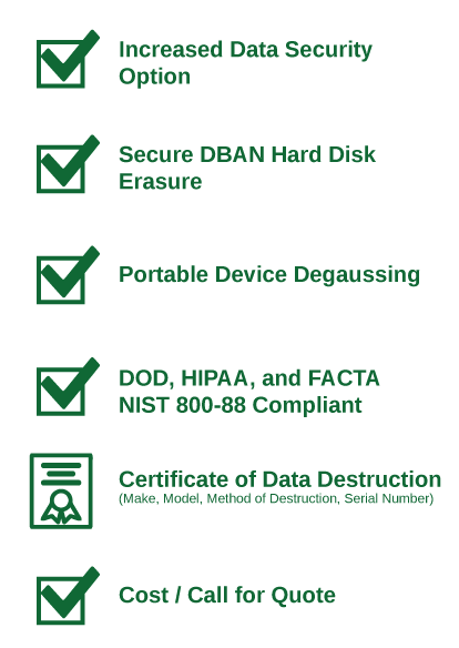 Level 2 Data Destruction Procedures | TechWaste Recycling