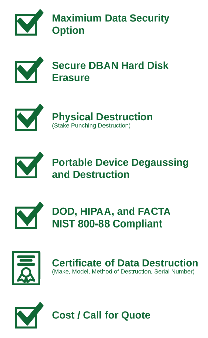 Level 3 Data Destruction Procedures and Facility