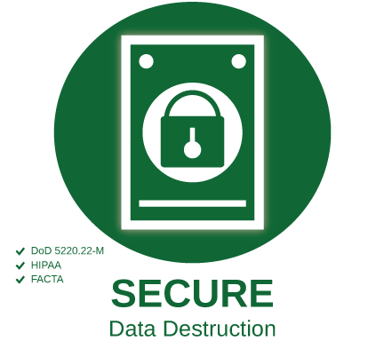 Certified Secure Data Destruction | TechWaste Recycling California